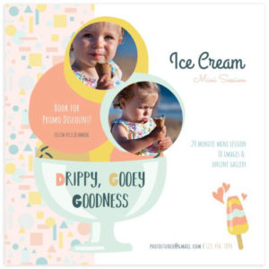 Ice Cream Minis Template for Photographers