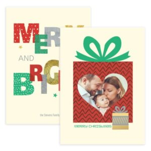 merry and bright photo card template