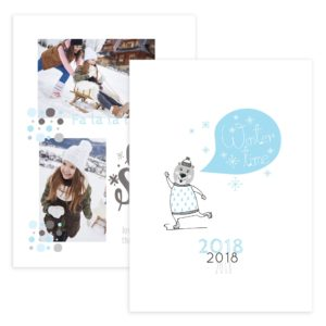 let it snow christmas card psd template
