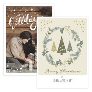 rustic holiday photo card template 5X7