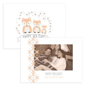 Fox Themed Christmas Card Template