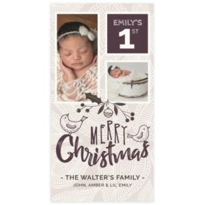 Newborn Christmas Card Template for Photoshop