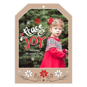 Peace and joy Christmas card