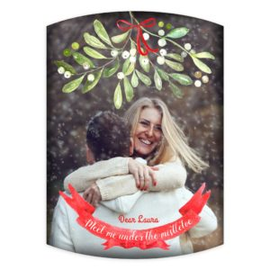 Merry luxe Christmas card template