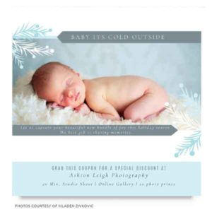 newborn photography marketing board