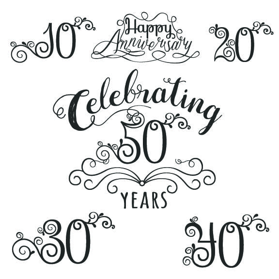 anniversary word art overlays for photographs
