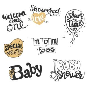 Baby Shower Word Art Overlays