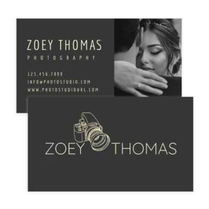 Modern Wedding Photographer Business Card Design Template
