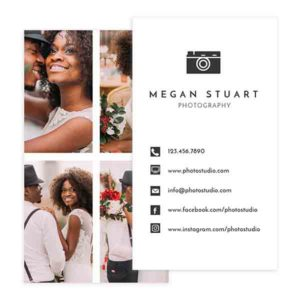 Vertical Style Photography Business Card Design