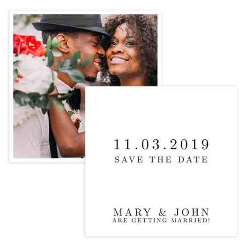 Blank save the date template