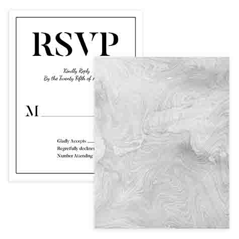Marbled RSVP Card Template