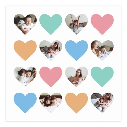 20X20 Hearts Collage Template