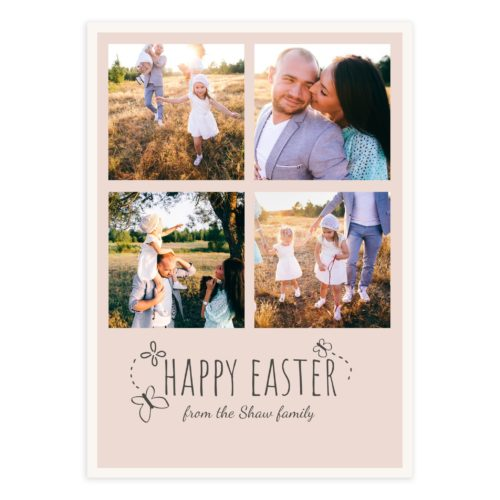 Easter Card PSD Template for Photographers
