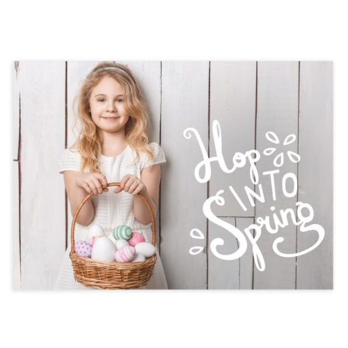 Photoshop Spring Easter Card Template