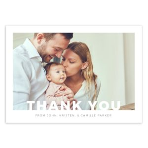 Newborn Thank You card Template for Photoshop