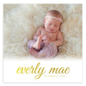 5X5 Newborn Card Template