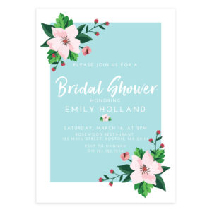 Floral Bridal Shower Invitation Template for DIY Brides and Creatives