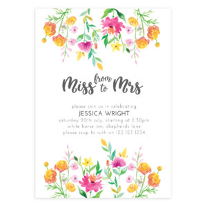 Miss to Mrs Invitation Photoshop Template