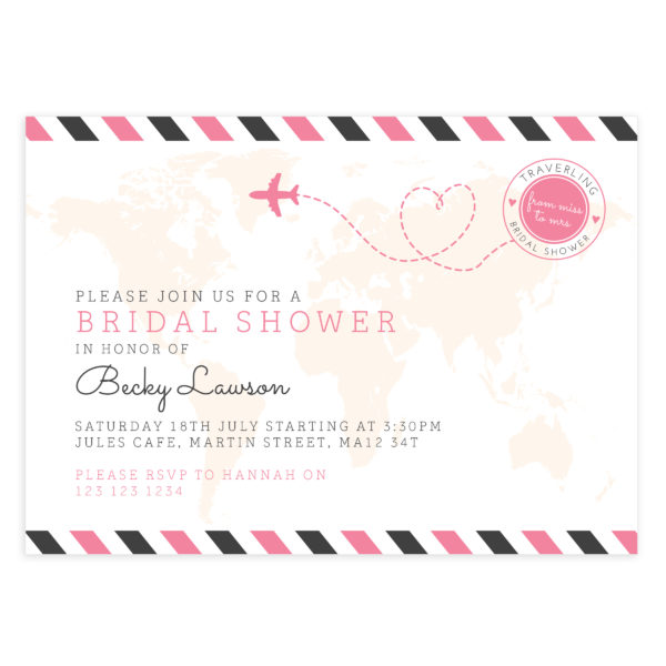 PSD Bridal Shower Invite