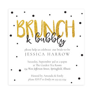 Brunch Bridal Shower Invitation Template