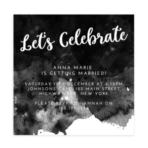 Celebrate Bridal Shower Invitation Template