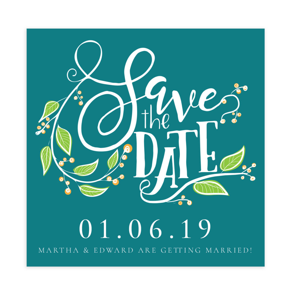 Save The Date Template (5X5)