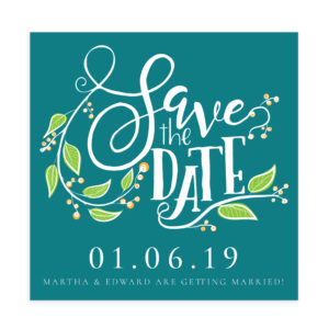Save the Date Photoshop Template