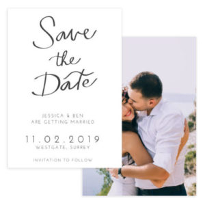 Stated Modern Save the Date Template