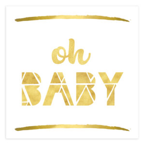 Oh Baby Newborn Shower Invitation