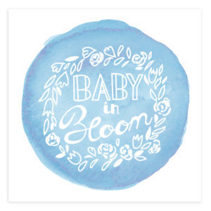 Baby in Bloom Birth Announcement