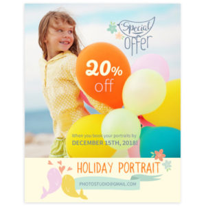 holiday portrait marketing template for photographers