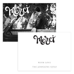 Merci Thank you card template