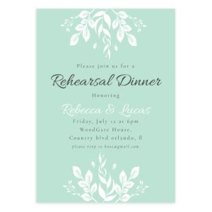 Rehearsal Dinner Photoshop Template