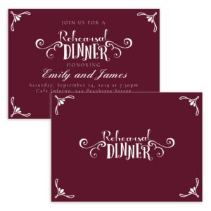 Rustic Dinner Rehearsal Dinner Invite template for brides
