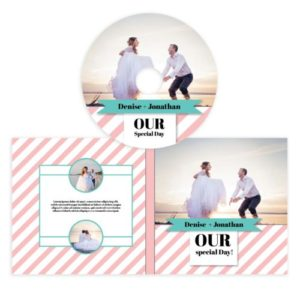 Wedding cd cover template photoshop