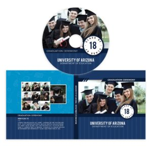 Graduation cd cover template photoshop