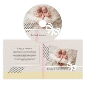 Newborn cd cover template photoshop