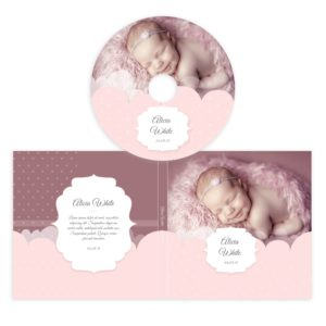 Newborn cd cover template in PSD form