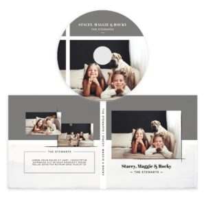 Grey CD/DVD Label Template