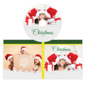 Christmas PSD CD Label Template