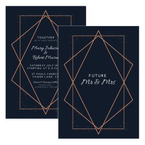 Geometric Wedding Invitation Design