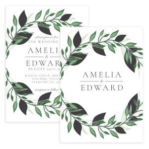 Watercolor Floral Wedding Invitation Templates