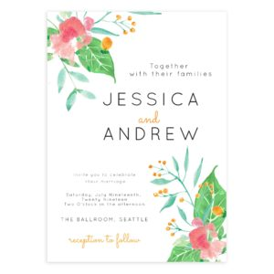 Bloom Wedding Photoshop Invite Template