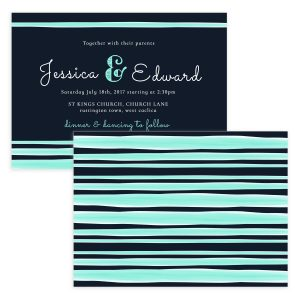 emerald green wedding invitation