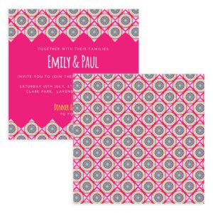 Pink Wedding Invite Template