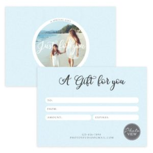 Portrait Photography Gift Certificate