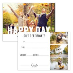 Family Photography Gift Certificate Template