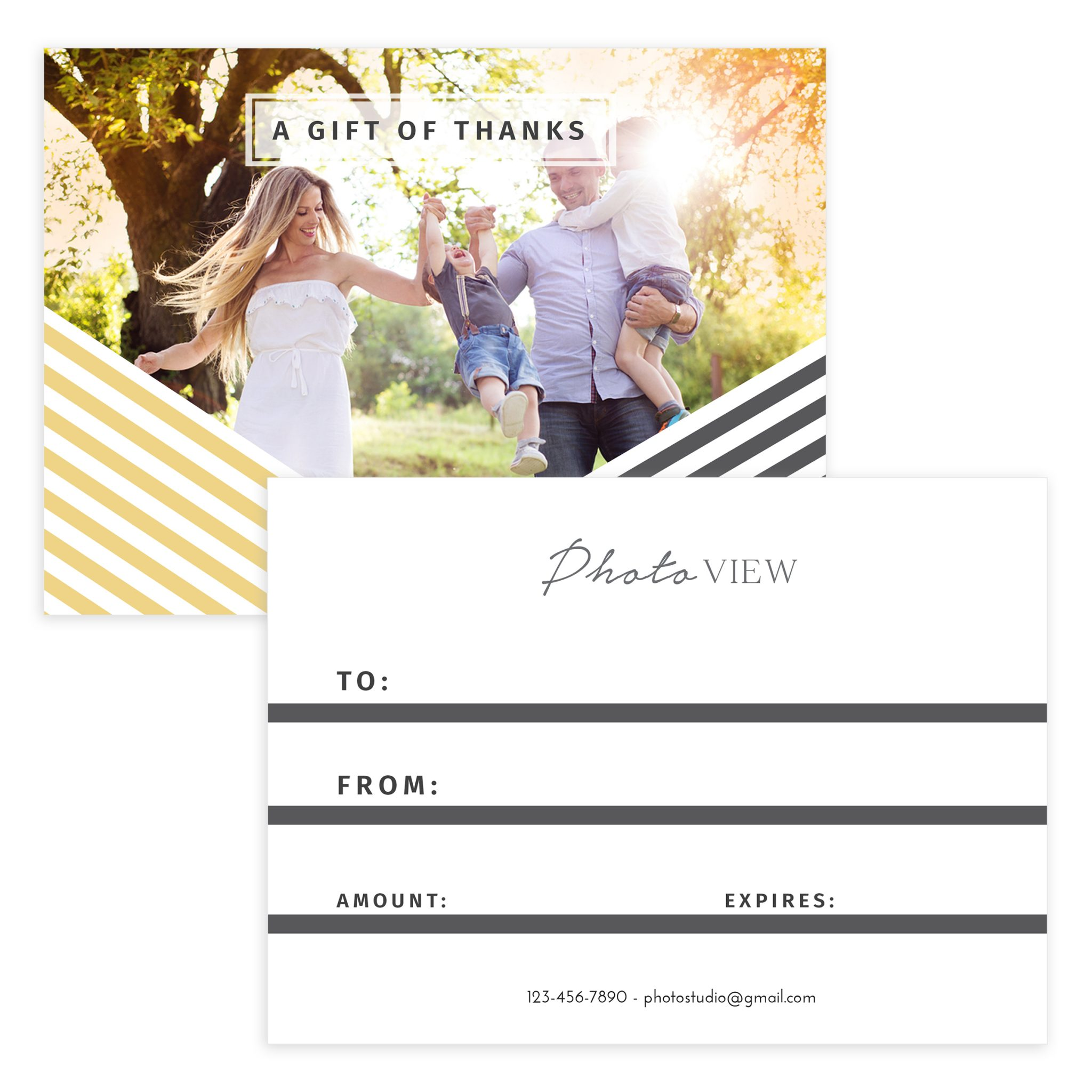 Holiday Photography Gift Certificate Template Mockaroon
