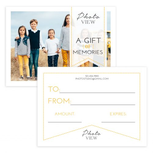 Portrait Photography Gift Certificate Template