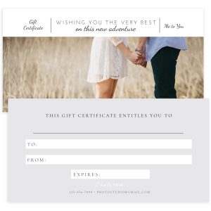 Photography Gift Certificate Template in PSD format